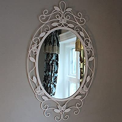 Butterfly Oval Wall Mirror produced by Melody Maison - quick delivery from UK.