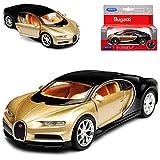 Welly Bugatti Chiron Coupe Gold Beige Ab 2016 ca 1/43 1/36-1/46 Modell Auto mit individiuellem Wunschkennzeichen