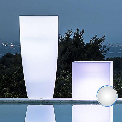 vaso tondo 'stilo lamp' con luce interna. in polietilene colorato. dal design elegante in puro stile moderno, È un ottimo complemento d'arredo e si abbina a molteplici ambienti nei quali viene collocato.