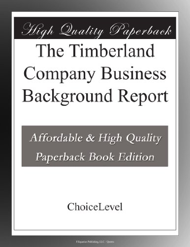 The-Timberland-Company-Business-Background-Report