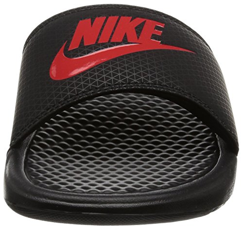 Nike Benassi JDI Black Red Mens Sandals - 343880 060 Black Red