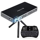 VANKYO Passport M50 DLP Mini Beamer 100ANSI Lumen, 120 Zoll Heimkino Beamer mit Android 7.1, 1080P Projektor unterstützt Dual WiFi, HDMI, mit Mini Wireless Tastatur, Stativ und Fernbedienung