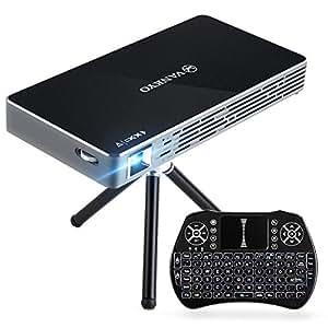 VANKYO Passport M50 DLP Mini Beamer 100ANSI Lumen, Heimkino Beamer mit Android 7.1, 1080P unterstützt Dual WiFi, HDMI, für Smartphone PC Laptop,mit Mini Wireless Tastatur, Stativ und Fernbedienung