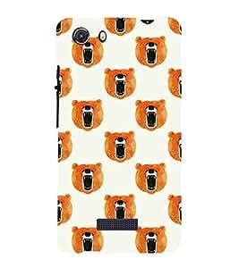 Fiobs Designer Phone Back Case Cover Micromax Unite 3 Q372 :: Micromax Q372 Unite 3 ( Bear Face Class Pattern Design )