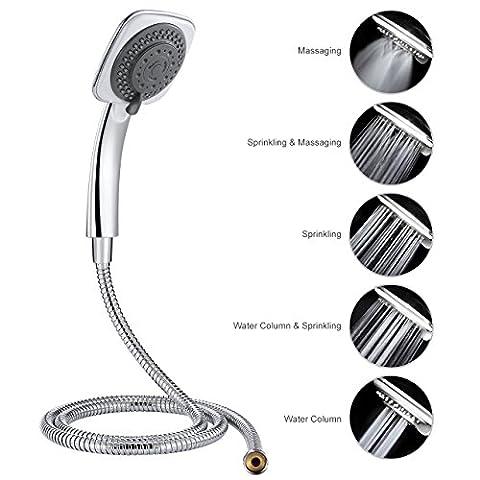 Handheld Shower Set, OMorc 5 Function Handheld Massage Shower Head