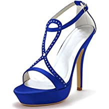 scarpe eleganti blu elettrico