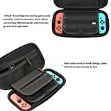Carrying Case for Nintendo Switch with Nylon Zipper Slider - Ergonomic and Water Resistant Hard Protective Shell for Travel - Protects from Scratch, Dents & Bumps - Pouch Holder for Gaming Accessories