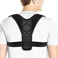 [Versione Aggiornata 2018] Posturale Correttore, BEQOOL Supporto per correttore postura spalla Supporto per dorsale regolabile per collo e dolori uomo o donna Correzione toracica per cintura nera