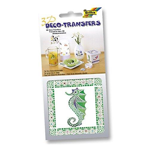 Preisvergleich Produktbild 3D Deco-Transfers Sticker 10x10cm oder 6,5x13,5cm für Küche & Bad, Modell:18110 Mosaik Seepferdchen;Größe:10x10cm