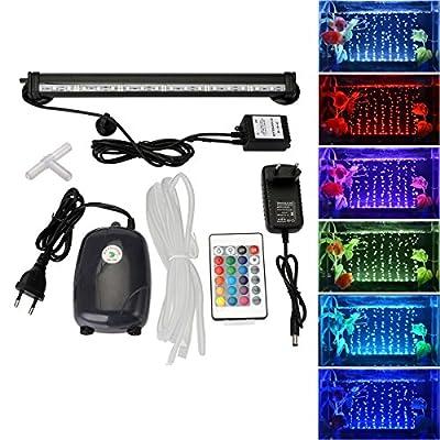 GreenSun LED Lighting RGB étanche Luminaires D'éclairage Aquarium + 24 Boutons De Contrôle à Distance RC