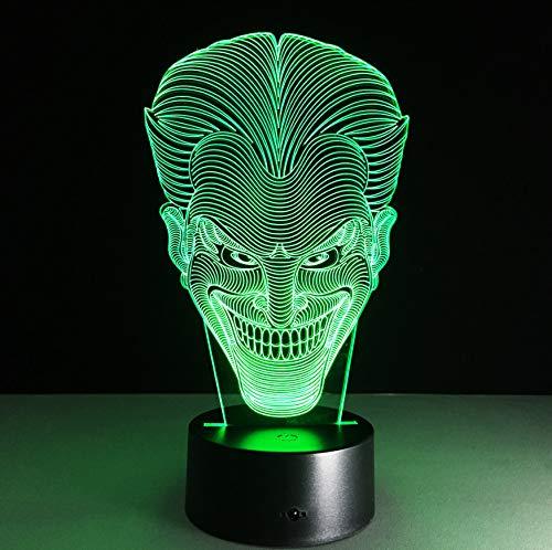 batman joker 3d ha condotto la luce di notte 7 colorato acrilico joker lampada da tavolo led usb creativo action figure giocattoli di illuminazione regali per ragazzi