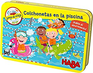 HABA- Juego de Mesa, Colchonetas en la Piscina, (Habermass H304921)