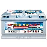 BIG Solar DC AGM 12 V / 100 Ah (C20) Boot Caravan Solar Reha Solar USV Batterie