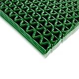 Tappeto Antiscivolo Impermeabile Anti-Slip | Pedana in Plastica, Gomma, PVC, al Metro | Ondulato | Vari Colori e Misure - 90x100cm - verde
