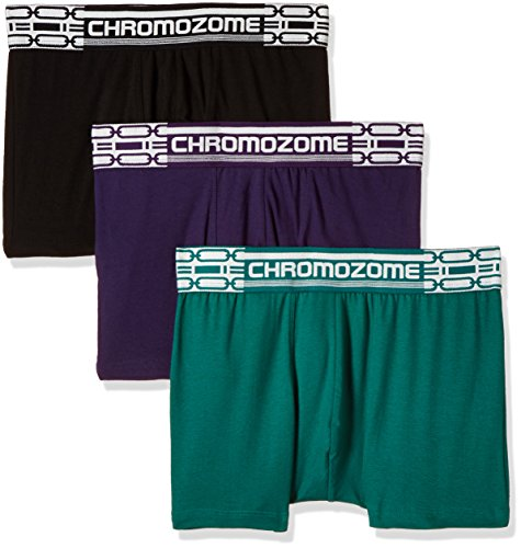 Chromozome Men's Cotton Boxer (Pack of 3) (8902733347297_CR2_Grnplublk_M)  available at amazon for Rs.447