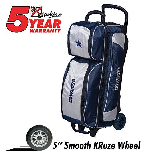 KR Strikeforce Bowlingtaschen Dallas Cowboys 3 Ball Roller Bowlingbag blau/grau (Schuhe Cowboy Dallas)