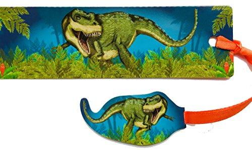 hen * Dinosaurier & T-Rex * mit Kordel und Anhänger Geschenk Bücher Buch Kinder Lesen Mitgebsel Glitter ()