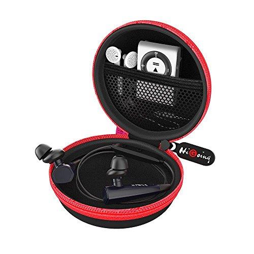 Mini Kopfhörer Tasche, HiGoing headset ohrhörer Schutztasche für In Ear Ohrhörer, MP3 Player, iPod Nano, Schlüssel, Lovely Macarons Aussehen (Innenmaß 6.8cm x 6.8cm x 4.0cm) (Rot und Schwarz)