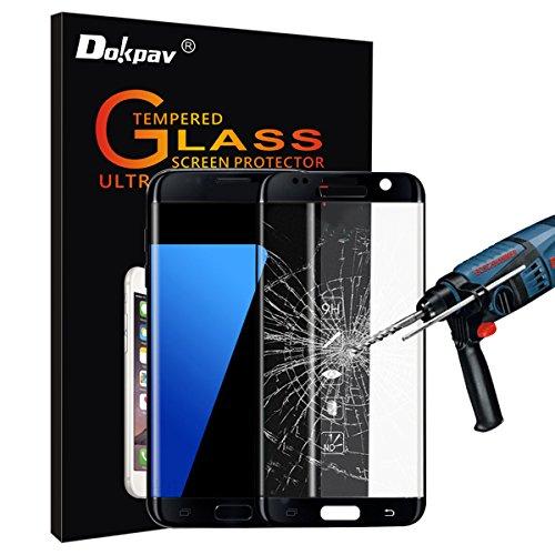 S6 Edge Plus Schutzfolie, Dokpav® Samsung Galaxy S6 Edge Plus Handy Displayschutzfolie für Smartphone Schutzfolie Folie - Schwarz