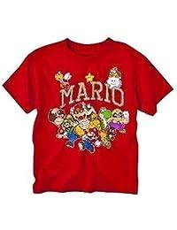 Nintendo Super Mario Bros. Characters Boys Red T-Shirt