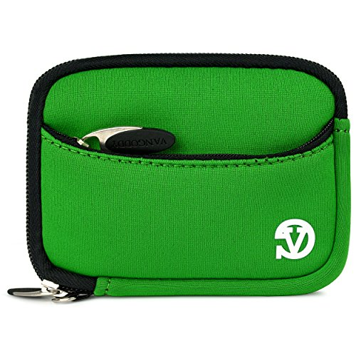 Vangoddy Mini Glove Sleeve Pouch Case For Nikon Coolpix P340, P330, P310, P300, P5000 Point & Shoot Digital Cameras (Green Black Trim) (AD_CAMLEA635_CAM:14:VGLV010)  available at amazon for Rs.1393