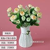 XHZ Emulation Blume verpackt getrocknete Blüte kleine Topfpflanzen Seide Blumen - Gestaltung von Blumen in Ihrem Wohnzimmer ist wunderschön mit Blumen auf der Schaukel eingerichtet. Die blaue Flasche+2 Strahl 苞 weißer Tee. Künstliche Blumen Fake Blumen für Hochzeit Blumensträuße für Hochzeit Home Garten Dekoration