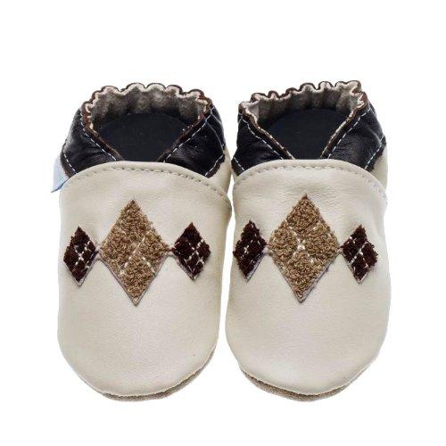 Jack and Lily , Chaussures souple pour bébé (garçon) Beige - Beige (Cream)