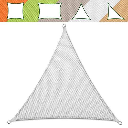 Casa Pura Dreieckiges Sonnensegel / Vordach, für Garten, wasserdicht, maschinenwaschbar, 5 x 5 x 5 m, in 5 Farben erhältlich