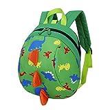 SEWORLD Baby Jungen Mädchen Kinder Dinosaurier Muster Tiere Rucksack Kleinkind Schultasche Schultaschen Taschen Bookbags für Baby Jungen Mädchen Kleinkind Kinder Kindergarten Grün
