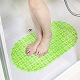 zanasta Antirutschmatte Bad mit Saugnäpfen/Duscheinlage Rutschfeste Matte für Badezimmer und Küche (Badewanne/Fliesen), PVC - Grün