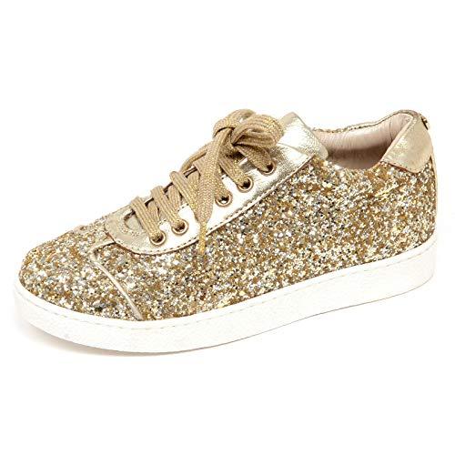 new york 4c882 96191 F4832 Sneaker Bimba Girl Gold Twin-Set Scarpe soletta regolabile Glitter  Shoe [32]