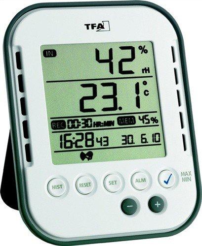 Thermo-Hygrometer digital für innen H.107xB.83xT.21 mm