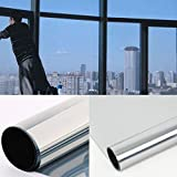 Diversitywrap Argento Solare Riflettente One Way Mirror Window Film 15% Privacy Adesivo Vetro Tinta 76cm (2m X76CM (200x 75,9cm))