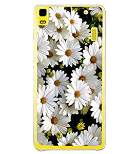 White Flower 2D Hard Polycarbonate Designer Back Case Cover for Lenovo A7000 :: Lenovo A7000 Plus :: Lenovo K3 Note