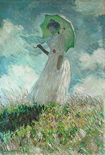 estudio-de-una-figura-al-aire-libre-mirando-a-la-izquierda-de-claude-monet-100-pintado-a-mano-oleo-s