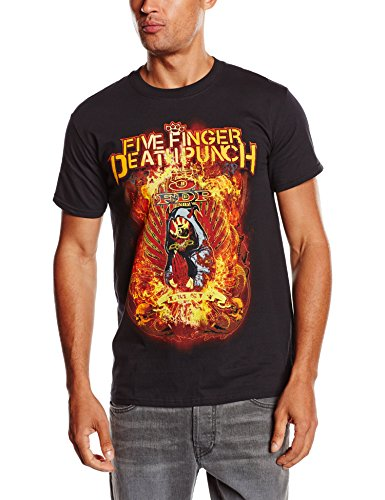 Five Finger Death Punch - Burn In Sin, Short sleeve da uomo, nero (black), XL