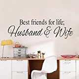 wandaufkleber spruch Wall Quotes Decals Stickers Vinyl Best Friends Husband And Wife Motivational For Men Women Girls Boys Mural Art For Bedroom Living Home Family