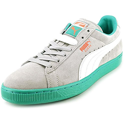 Puma Suede Classic Leather Sneaker bande PUMA Gray Violet-White-Fluo Teal