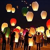 fomccu 5x Flying Laternen Kong Ming Wishing Licht Halloween Chinesische Sky Laterne Air Ballon