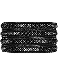 Rafaela Donata - Bracelet en cuir véritable - Cuir véritable acier inoxydable agate, bracelet agate, collier en cuir véritable, bijoux en cuir, bijoux en agate - 60291022