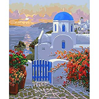 Kingterence Paint by Numbers, DIY Oil Painting Kit for Kids Adults Beginner Home Decorations 16x20 inch (Without Frame)