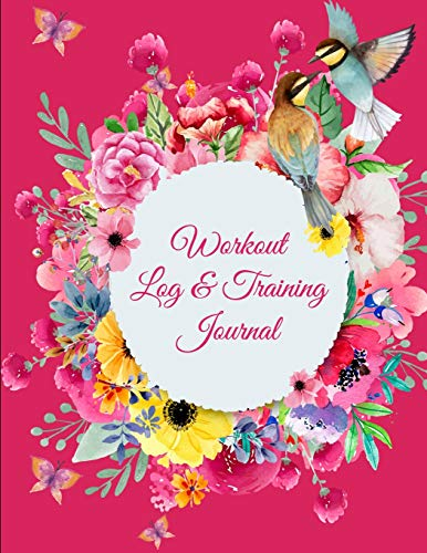 Workout Log & Training Journal: Pink Color Design, 2019 Weekly Meal And Workout Planner and Grocery list 8.5