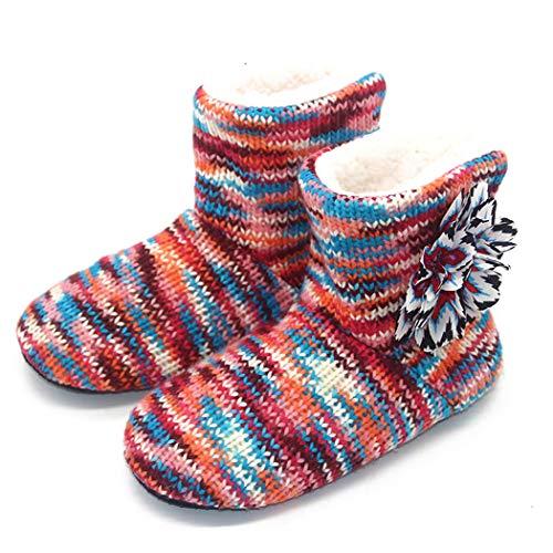 Winter Warme Hausschuhe Erwachsene Männer und Frauen Haushalt Socken Stiefel Weiche Rutschfeste Verdicken Plüsch Hause Indoor Schuhe