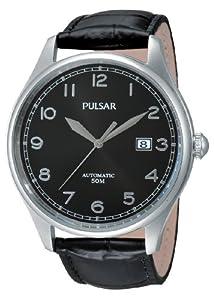 Pulsar Klassik - Reloj de automático para hombre, con correa de cuero, color negro de Pulsar