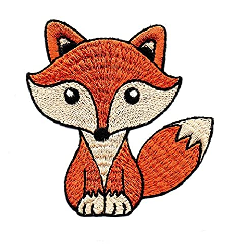 Fox Animal Zoo sauvage Forêt Dessin animé enfants Cute Smile Patch pour DIY Applique Iron on Patch T-shirt Patch coudre fer brodé sur badge Signe fantaisie