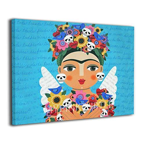 Pintura C Frida Kahlo Mexicana Folk Arte De Pared