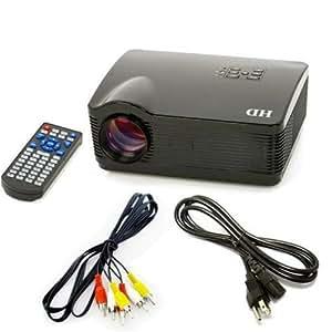 Full HD LED 3 * HDMI USB Multimedia Projecteur HD 1080P pour le Home Cinema 3D, Zoom (zoom électronique), Tous les Canaux de Signaux 16:9 de Soutien Vidéo H.264 (le signal USB / SD)