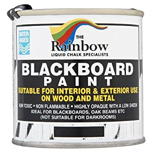 The Rainbow Blackboard peinture 250ml (pack de 6 x 250 ml)