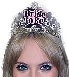 Silberne Tiara Aufschrift BRIDE-TO-BE Accessoire Junggesellenabschied Junggesellinnenabschied JGA