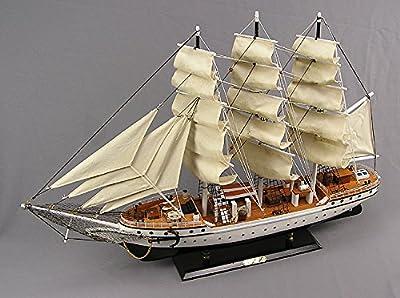 Dänemark Segelschiff Modell Modellsegelschiff Standmodel 3 Master Deko Maritim Ostsee Nordsee Sylt von muschel-sammler-shop